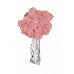 Déco festive, Mini rose ourlée en tissu 144 pièces, 6931RO, 4,50€