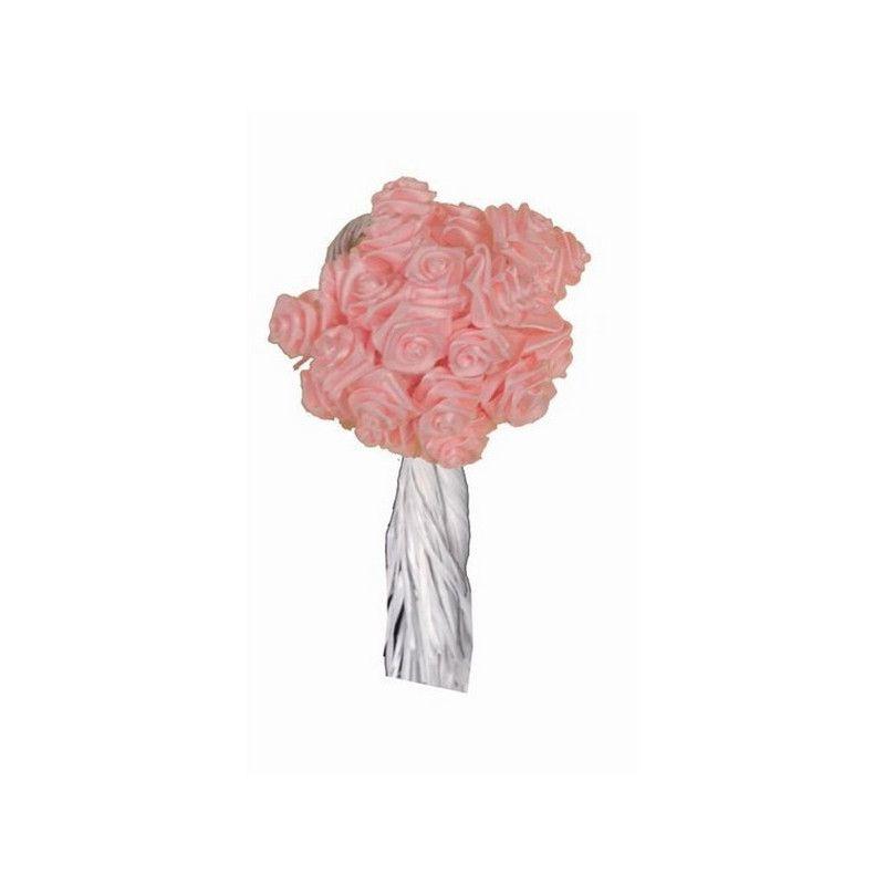 Mini rose ourlée en tissu 144 pièces Déco festive 6931RO
