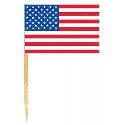 Déco festive, Mini drapeaux USA x 50, DR84000USA, 1,00€