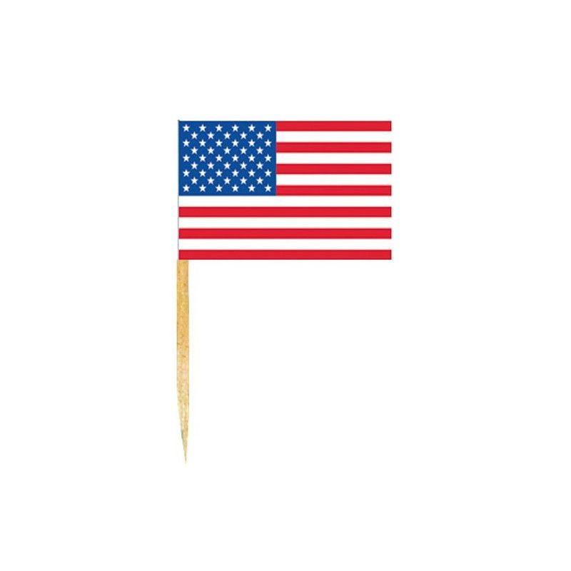 Mini drapeaux USA x 50 Déco festive DR84000USA