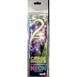 Cierge magique fluo numéro 2 Artifices SC25202