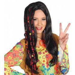 Perruque hippie mixte Accessoires de fête 4968