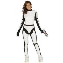 Déguisements, Déguisement soldat de l'espace femme taille S-M, 84969, 29,90€