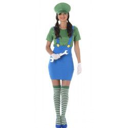 Déguisement plombier vert femme taille XS Déguisements 163674