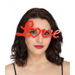 Lunettes love rouge adulte Accessoires de fête 273048