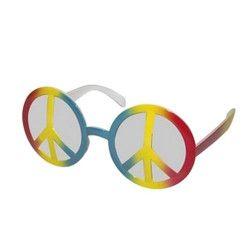 Accessoires de fête, Lunettes hippie plastique coloré, 40001, 3,90€