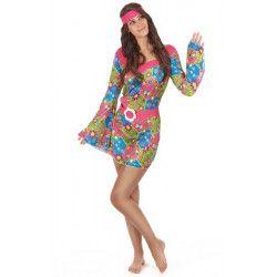 Déguisements, Déguisement hippie à fleurs femme taille M-L, 59499, 22,90€