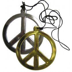 Collier hippie plastique Accessoires de fête 73350