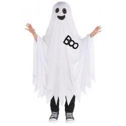 Déguisements, Déguisement cape de fantôme blanc enfant 6 à 10 ans, 848740-55, 21,50€