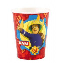 Déco festive, Gobelets Sam le Pompier™ x 8 en cartonr 26 cl, 9902176, 2,25€
