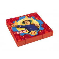 Déco festive, Serviettes Sam le Pompier™ x 20 en papier 33 cm, 9902177, 2,75€
