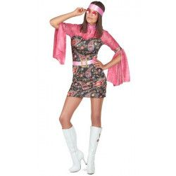 Déguisement hippie vieux rose femme Déguisements 28502-