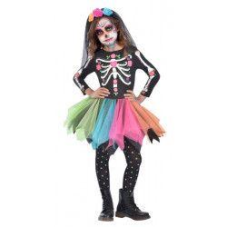 Accueil, Déguisement squelette Dia de los Muertos fille, 990342-, 26,90€