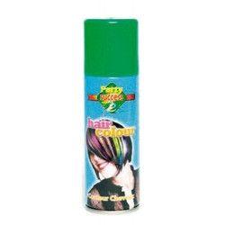 Accessoires de fête, Bombe cheveux verts 125 ml, 102358-BIS, 1,90€