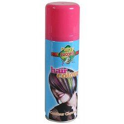 Bombe cheveux roses 125 ml Accessoires de fête 102361-BIS