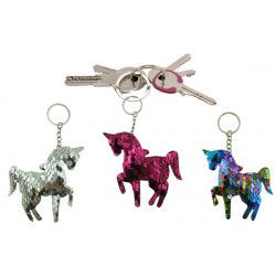 Lot 12 porte-clés licorne sequins Jouets et kermesse 18410-LOT