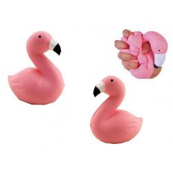 Figurine squishy flamant rose anti-stress 13 cm Jouets et kermesse 24657