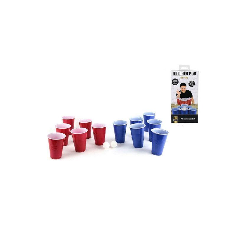 Jeu bière pong avec gobelets et boules Jouets et articles kermesse 3091