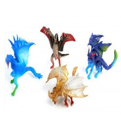 Animal dragon PVC 9 cm vendu par 12 Jouets et articles kermesse 10990-LOT