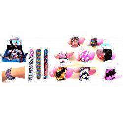 Bracelet snap sequins 22 cm vendu par 24 Jouets et articles kermesse 32879-LOT