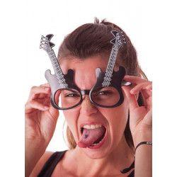 Lunettes guitare rock adulte Accessoires de fête 8719
