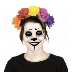 Serre-tête Frida de la Muerte avec fleurs Accessoires de fête 908101