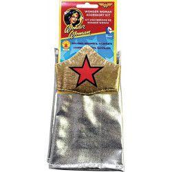 Kit accessoires coiffe et gantelets Wonder Woman™ adulte Accessoires de fête I-5448