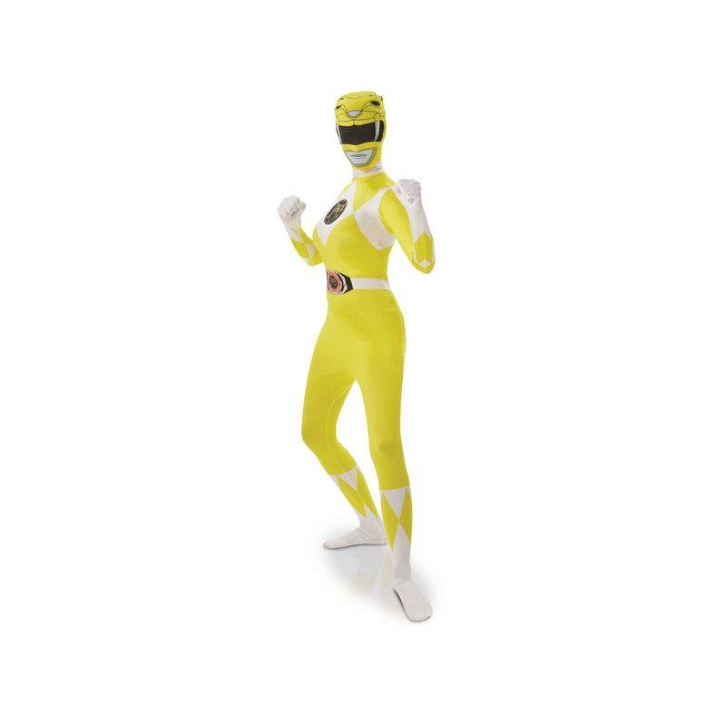 Déguisement seconde peau Power Rangers™ jaune femme Déguisements I-810951-