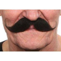 Moustache noire fine Accessoires de fête 26418G