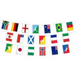 Guirlande 32 fanions Coupe du monde 2018 football Déco festive 06112