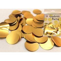 Sachet 15 grammes confettis 2,5 cm métallisé : Or Déco festive 22605GO