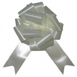 Sachet 4 noeuds à tirer 5 cm crème Déco festive 36700CRZ
