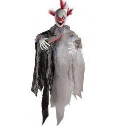 Clown assassin à suspendre avec son et lumière Déco festive 08521