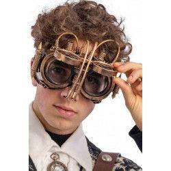 Lunettes masque Steampunk bronze Accessoires de fête 00675
