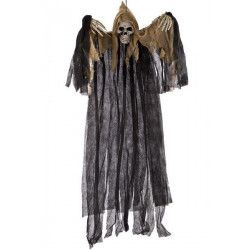 Déco festive, Squelette sorcière à suspendre noire 120 cm, 08426, 14,90€