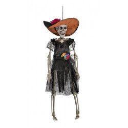 Déco festive, Squelette mexicaine Dia de Los Muertos à suspendre, 09040, 8,50€