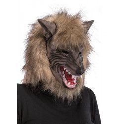 Masque intégral loup en latex Accessoires de fête 01370