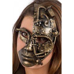 Masque steampunk plastique bronze Accessoires de fête 01768