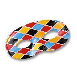 Loup arlequin losanges multicolores Accessoires de fête 01207