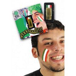 Maquillage stick tricolore Italie Accessoires de fête 07008