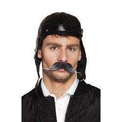 Moustache pilote grise Accessoires de fête 01816