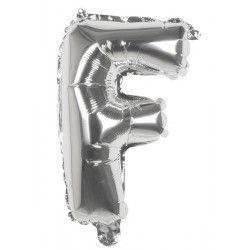 Déco festive, Ballon aluminium argent 36 cm - lettre F, 22105, 0,99€
