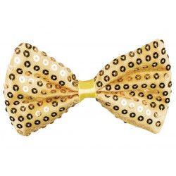 Noeud papillon sequins or Accessoires de fête 53120