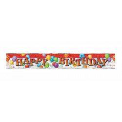 Bannière Happy Birthday motifs ballons 3.6 m Déco festive U23615LF
