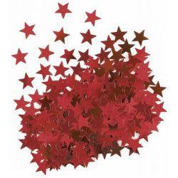 Sachet confettis étoiles rouges 14 g Déco festive U91115
