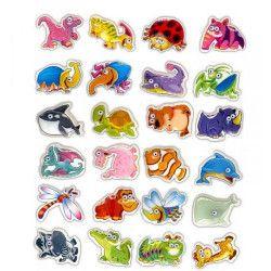 Sticker animaux 3D papeterie kermesse vendu par 48 Jouets et kermesse 38406-LOT