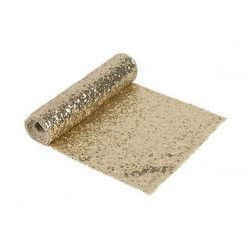 Déco festive, Chemin de table sequin or 2.75 m x 30 cm, 3090OR, 11,90 €