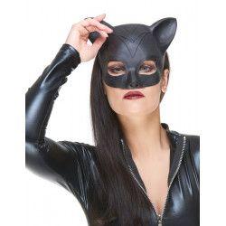 Accessoires de fête, Demi masque chat latex femme, 155224, 5,90€
