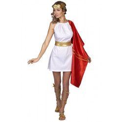 Déguisement déesse romaine avec cape rouge femme taille unique Déguisements 160129