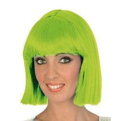 Accessoires de fête, Perruque Crazy vert fluo femme, 1900220-VF, 7,95€